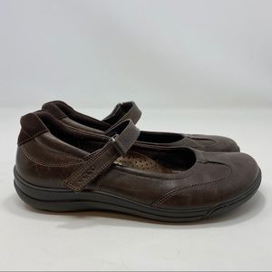 Ecco Women's Brown Leather Mary Jane Shoes Size 8